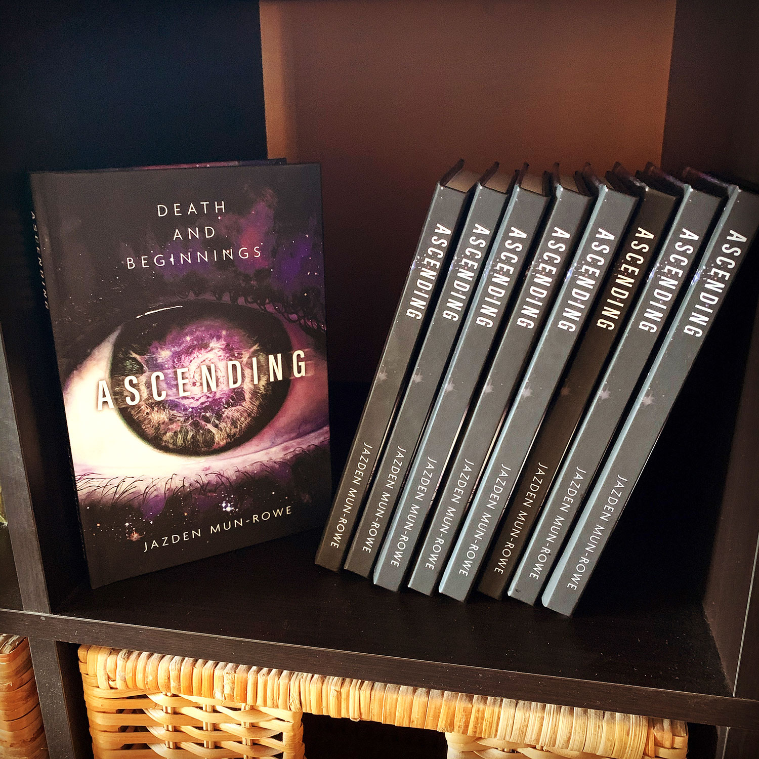 Author Jazden Mun-Rowe and book Ascending Death and Beginnings